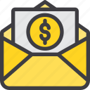 business, communication, email, letter, mail, paper icon