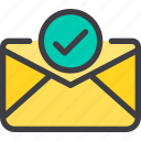 check, communication, email, letter, mail icon