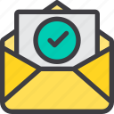check, communication, email, letter, mail, paper icon