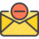 communication, delete, email, letter, mail icon
