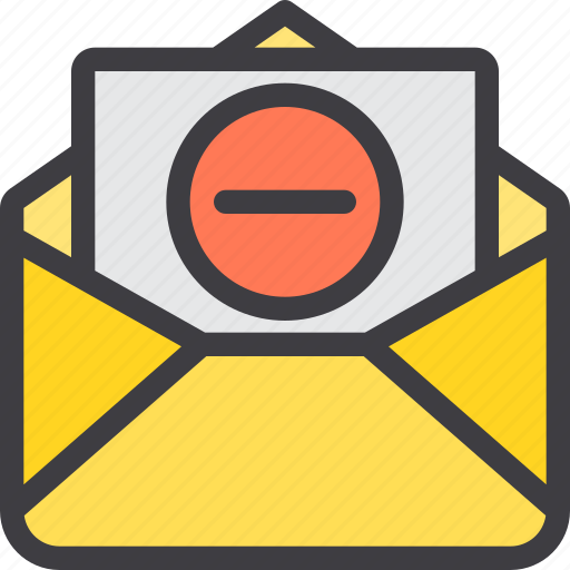 communication, delete, email, letter, mail, paper icon