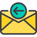 communication, email, in, letter, mail icon