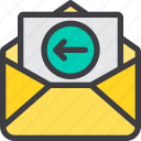 communication, email, in, letter, mail, paper icon