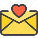 communication, email, letter, love, mail icon