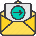 communication, email, letter, mail, out, paper icon