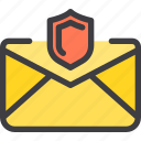 communication, email, letter, mail, protect icon