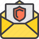 communication, email, letter, mail, paper, protect icon