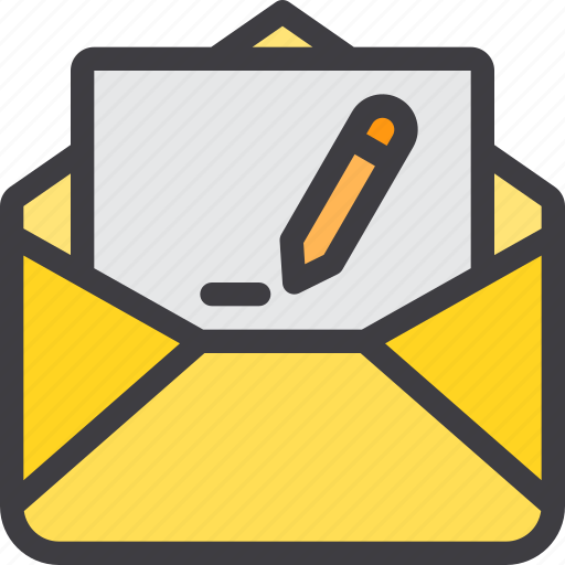 communication, email, letter, mail, paper, sent icon