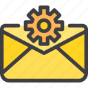 communication, email, letter, mail, setting icon