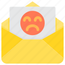 bad, communication, email, letter, mail, paper icon