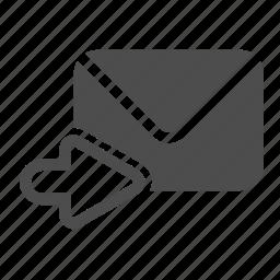 email, envelope, letter, mail, postal, send, stamp icon