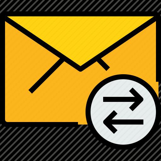 address, arrow, communication, e, information, mail, mailbox icon