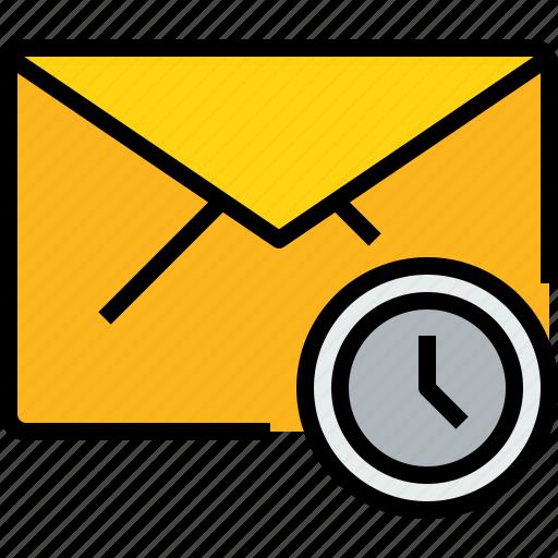 address, communication, e, information, mail, mailbox, time icon