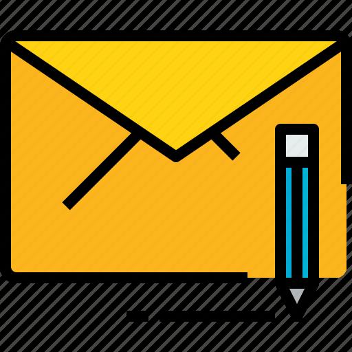 address, communication, e, information, mail, mailbox, write icon