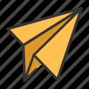communucation, email, folding, forward, interface, rocket, sent icon