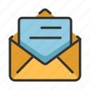 communucation, email, envelope, interface, mail, read, readed icon