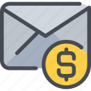business, communication, letter, mail, message icon