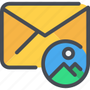communication, email, letter, mail, media, message icon