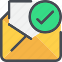 check, communication, email, letter, mail, message icon