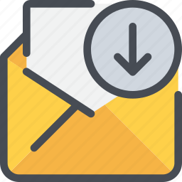 arrow, communication, email, letter, mail, message icon