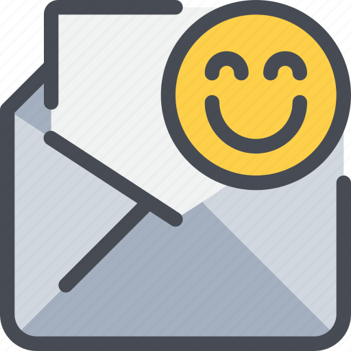 communication, email, face, letter, mail, message icon
