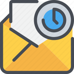 communication, email, letter, mail, message, time icon