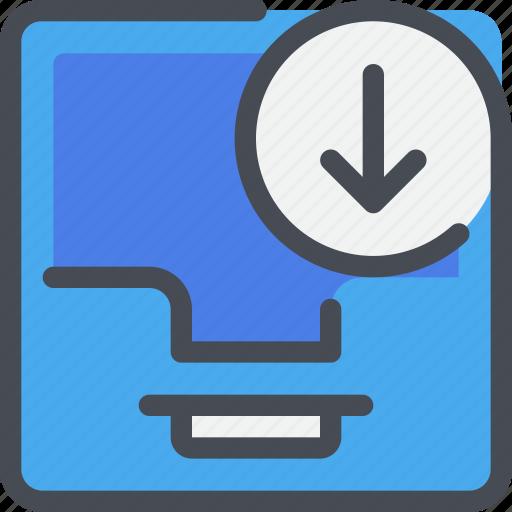 arrow, box, communication, letter, message icon