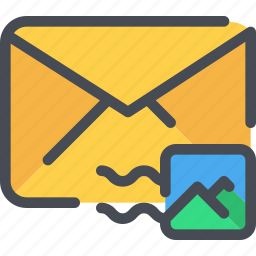 communication, email, letter, mail, message, stamp icon