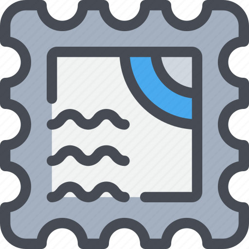 communication, letter, mail, message, stamp icon