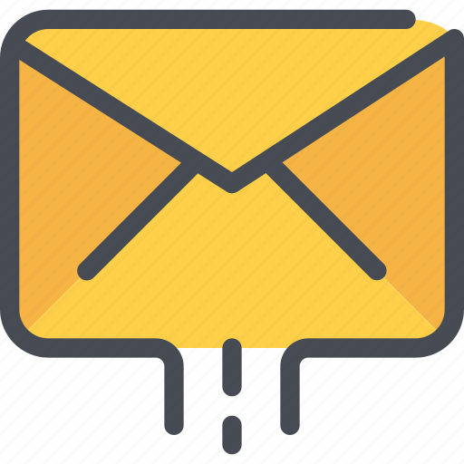 communication, email, letter, mail, message, sent icon