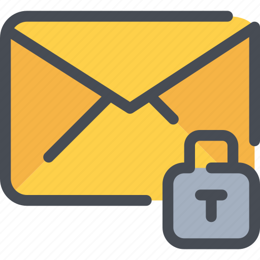 communication, email, letter, mail, message, security icon