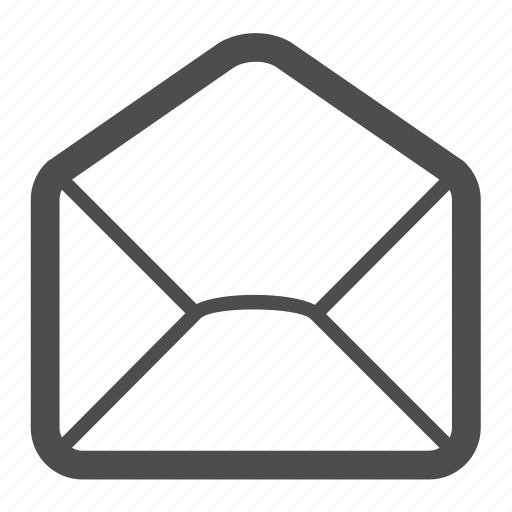 email, empty, envelope, letter, mail, message, open icon