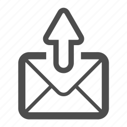 email, envelope, letter, mail, postal, send, sent icon