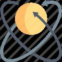 arrows, atom, molecule, nuclear, nucleus, rotation icon
