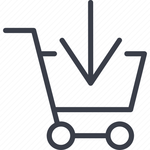 e-money, grocery trolley, product, products, purchase icon