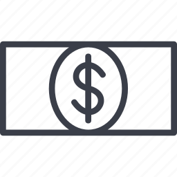 denomination, dollar, e-money, money icon