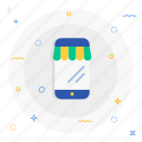 mobile, shopping icon