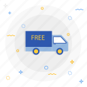 free, shipping, truck icon