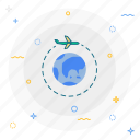airplane, delivery, world wide icon