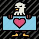 eagle, hawk, bird, animal, kingdom, heart