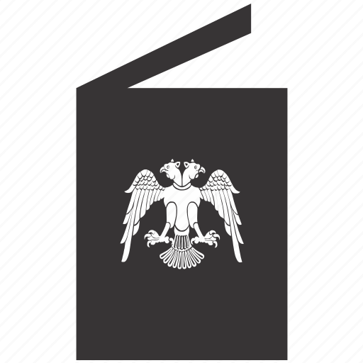 arms, book, eagle, emblem icon