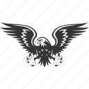 arms, bird, eagle, emblem icon