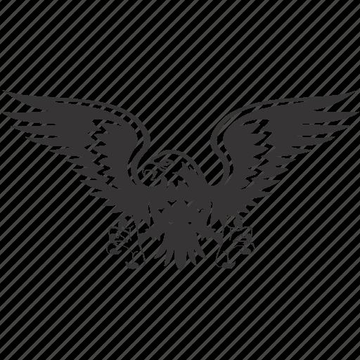 arms, bird, eagle, emblem icon
