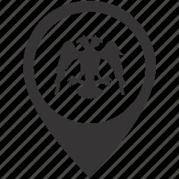 arms, eagle, emblem, pointer icon