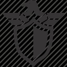 arms, eagle, emblem, shield icon