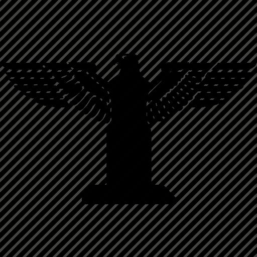 arms, eagle, emblem icon