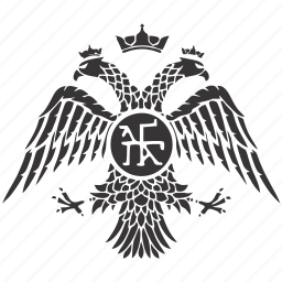 arms, eagle, emblem, heads, two icon