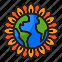 earth, world, global, flower, planet