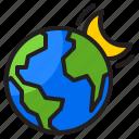 earth, world, global, moon, planet