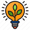 lightblub, green, lamp, plant, energy